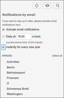 Microblog post notifications