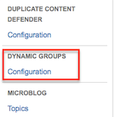 Dynamic User Groups add-on configuration
