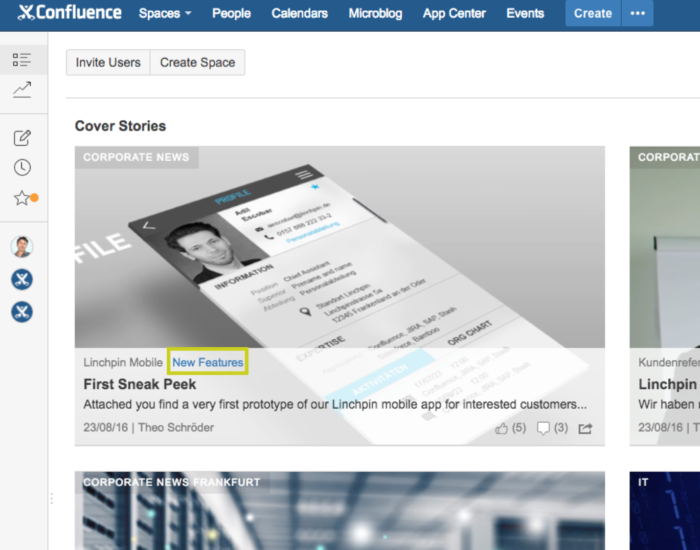 Enterprise News Bundle: Clickable categories