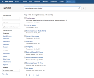 All pages with the Cover Stories macro in Confluence