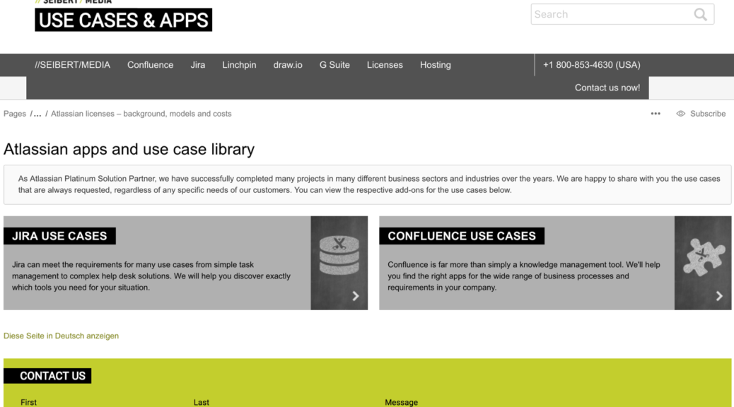 //SEIBERT/MEDIA's Atlassian app use case library