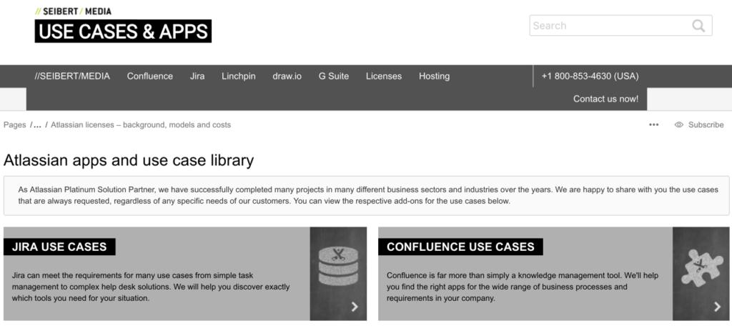 //SEIBERT/MEDIA's Atlassian app use case library