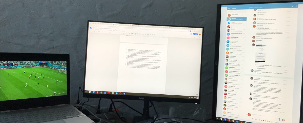 Soccer, browsing, messengers: the Google Pixelbook in a practical test