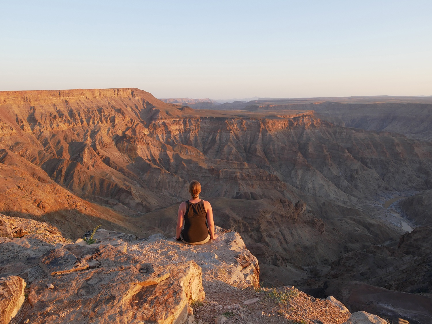 Sunset at the second largest and oldest canyon in the word (Fishriver Canyon)