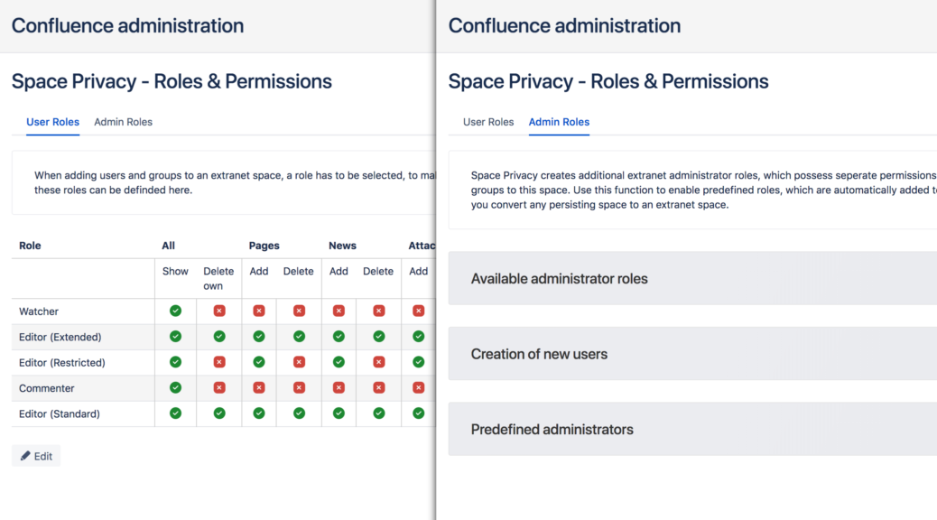 Space Privacy - Clearer roles and permissions