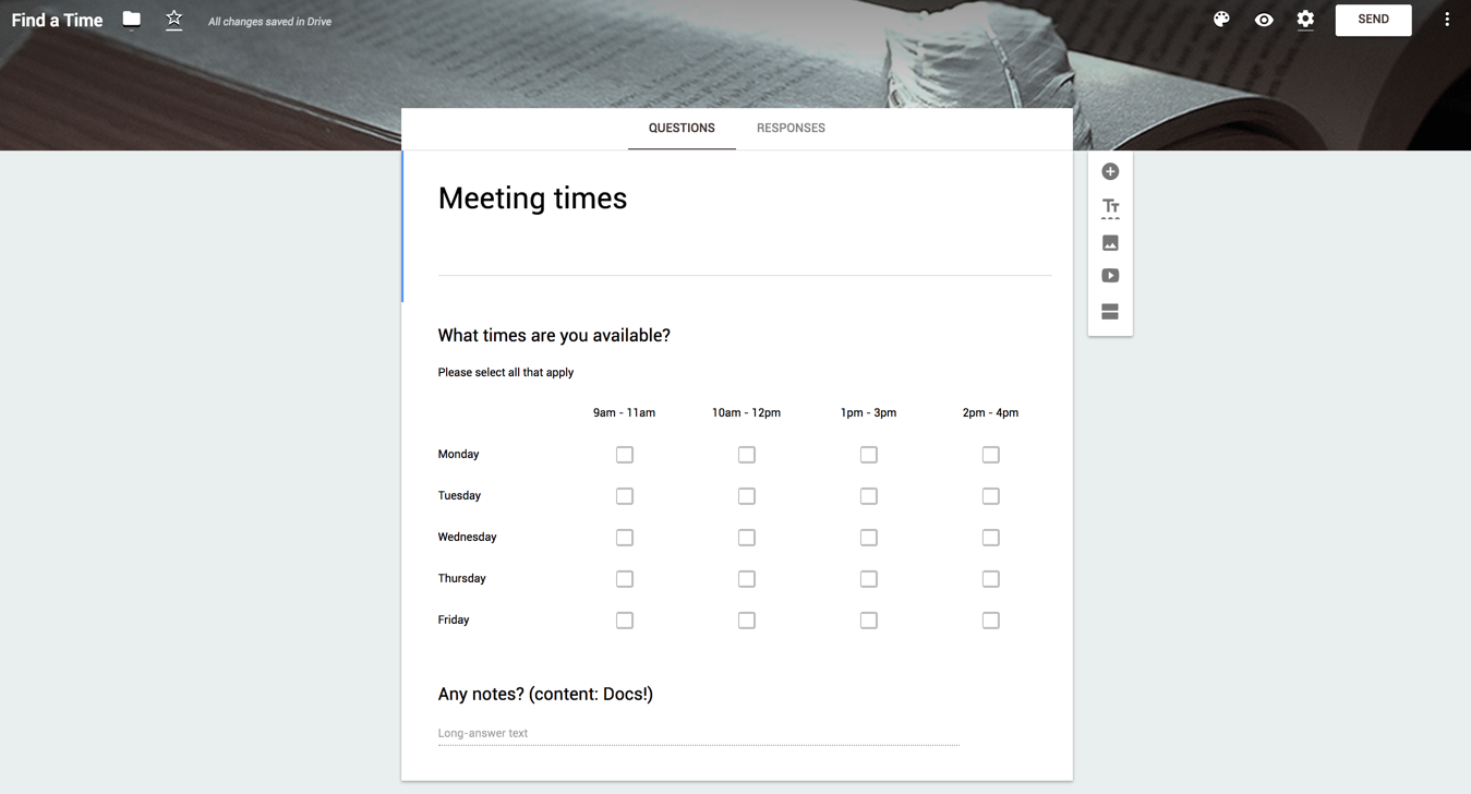 Better meetings with Google G Suite: Scheduling with forms