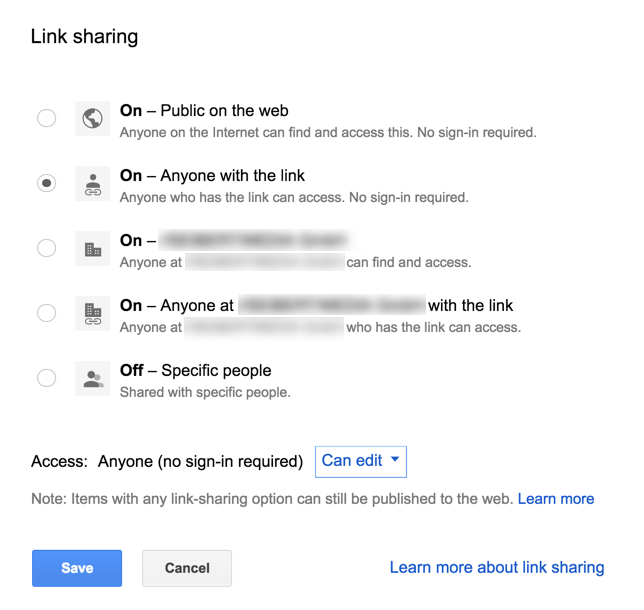 Better meetings with Google G Suite: link sharing