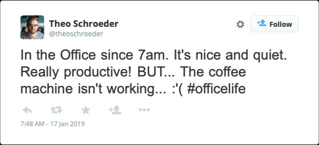 Theo Schroeder tweets
