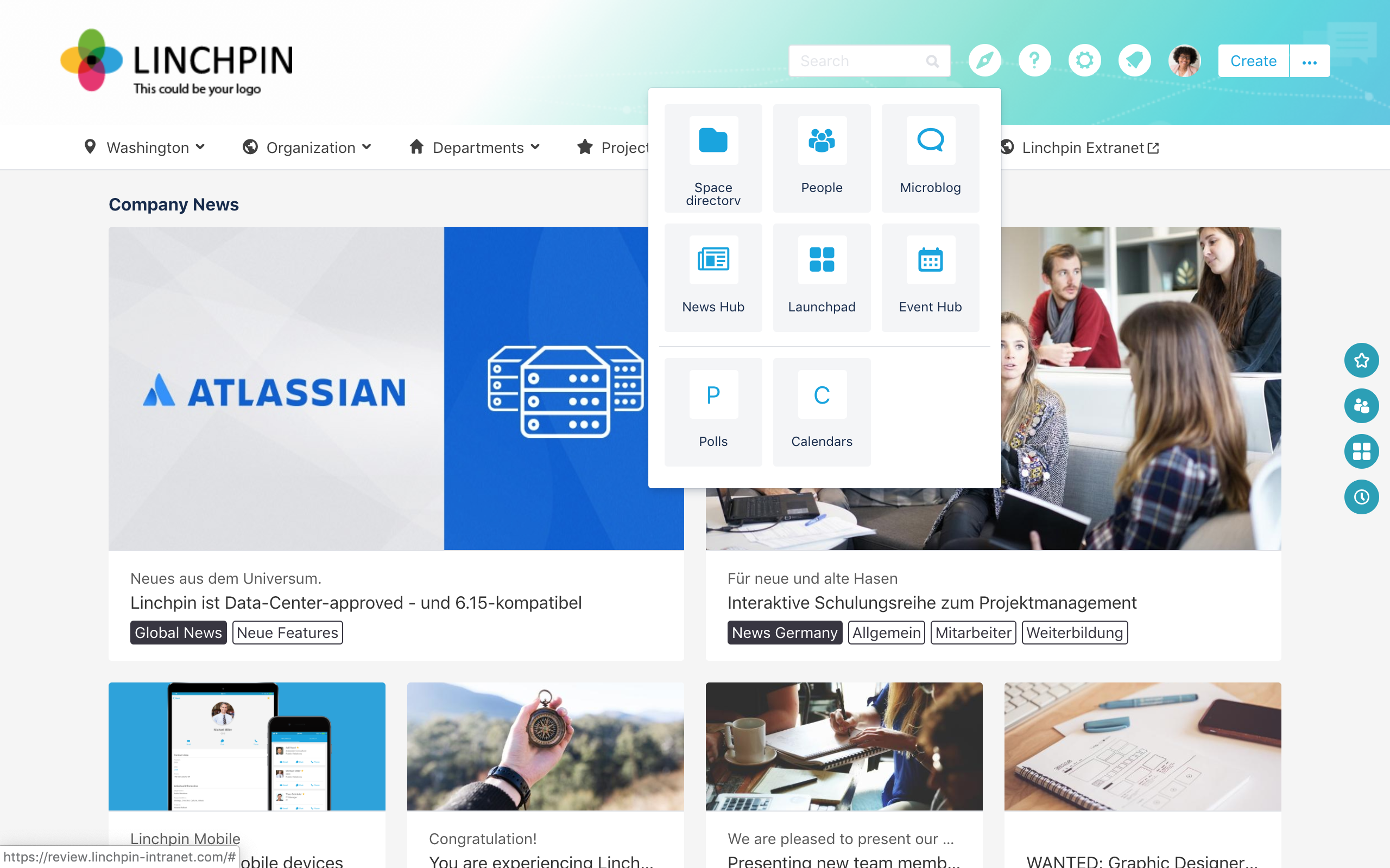 Linchpin Intranet Suite - header