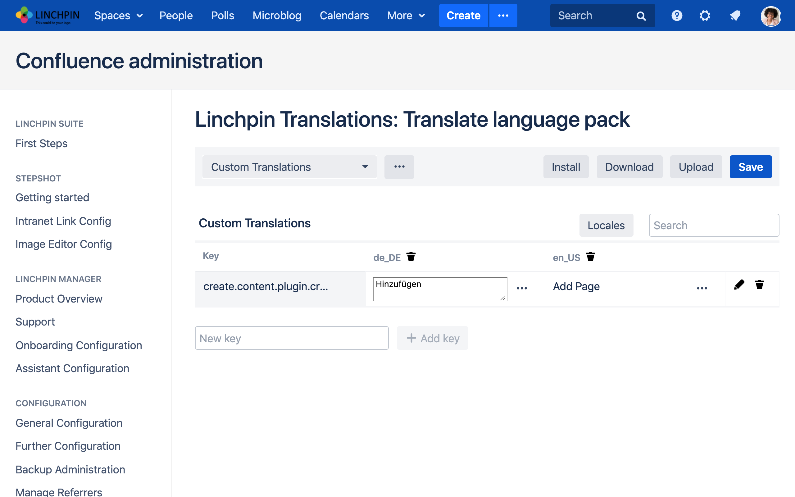 Linchpin Intranet Suite - Linchpin Translations
