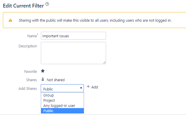 Sharing settings in current versions of Jira