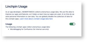 Linchpin App Usage