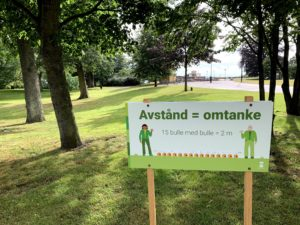 Social Distancing in Sweden