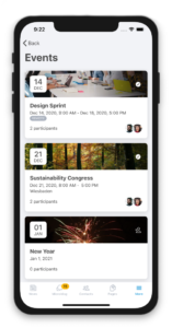 Events in Linchpin Mobile