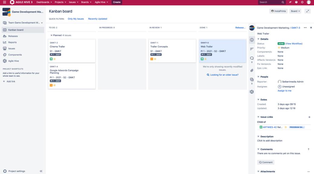 Agile Hive Release Kanban Teams