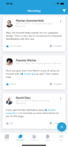 Linchpin mobile microblog comments