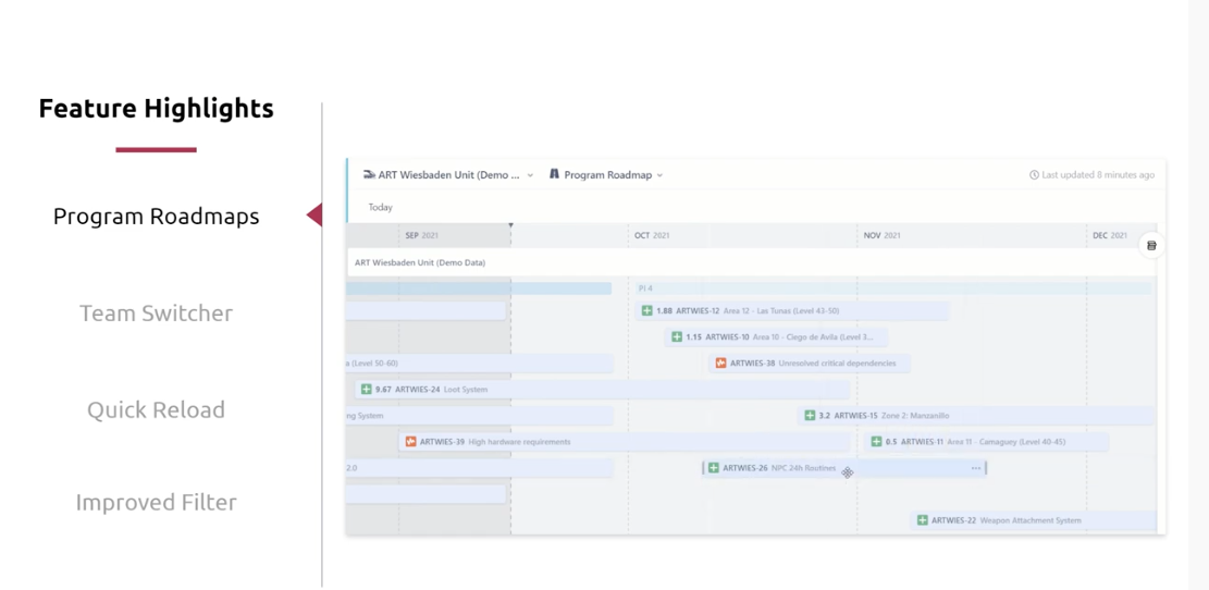 Agile Hive feature highlights