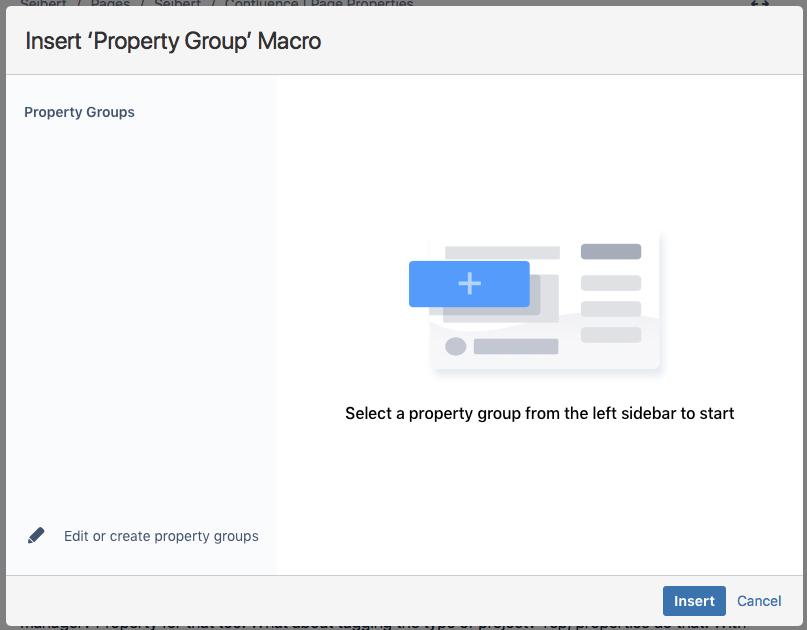 insert property group