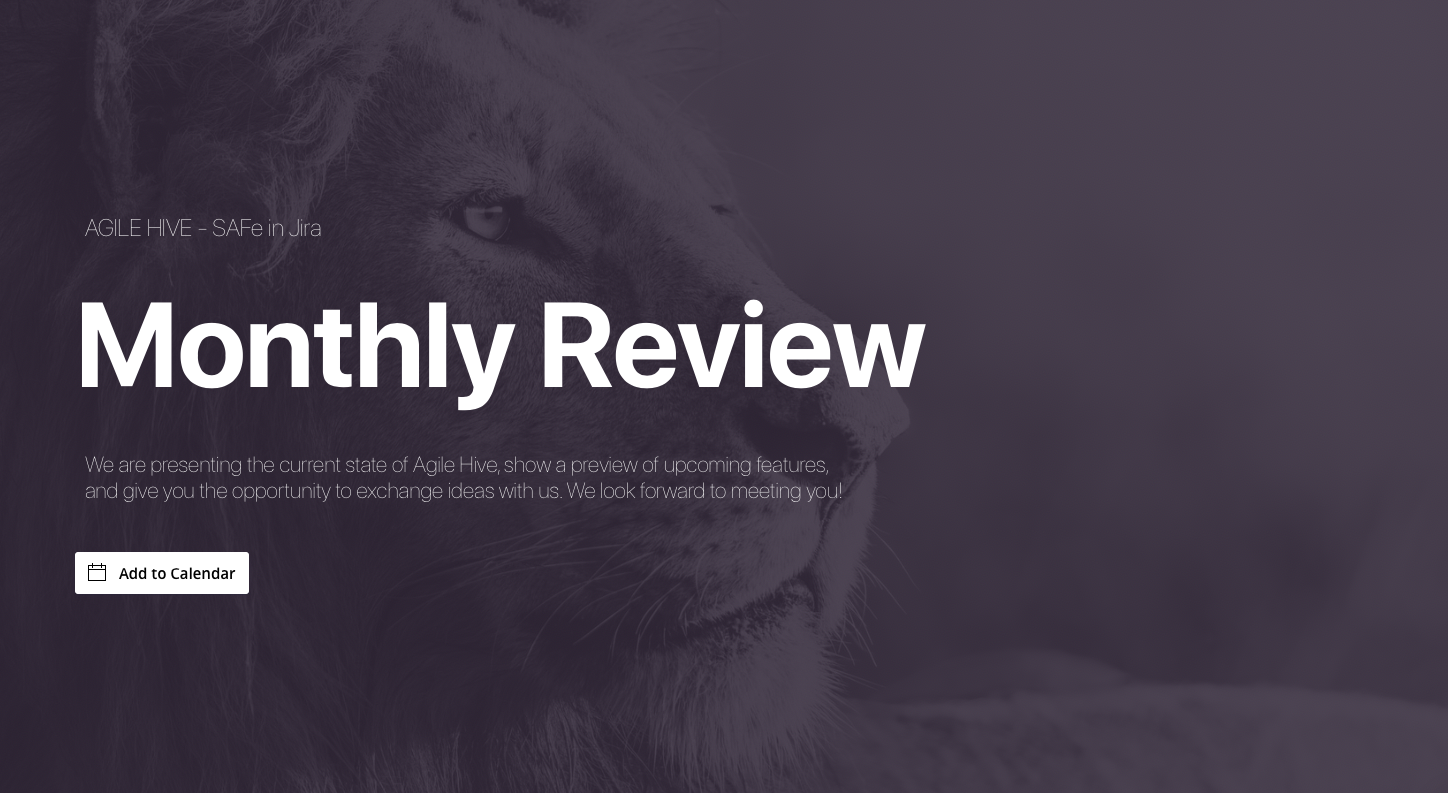Monthly Agile Hive review